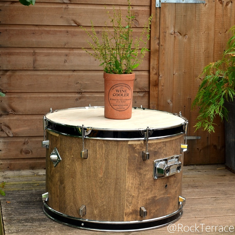Rustic Rock Terrace Bass Drum Table