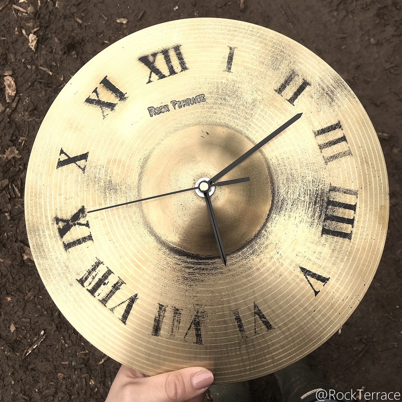 Rock Terrace upcycled cymbal clock